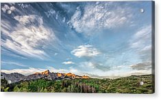 Acrylic Print featuring the photograph Sweeping Clouds by Jon Glaser