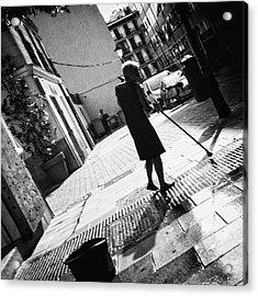 Sweeping Widow  #woman #people Acrylic Print
