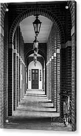 Sweet Briar College Benedict Hall Walkway Acrylic Print by University Icons