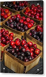 Sweet Cherries From A Cherry Orchard At The Cherry Point Farm Market Acrylic Print by Randall Nyhof