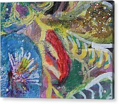 Sweet Closeview Of Floral Delights Acrylic Print by Anne-Elizabeth Whiteway