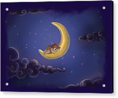 Acrylic Print featuring the drawing Sweet Dreams by Julia Art