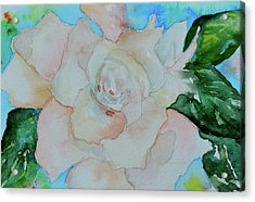 Acrylic Print featuring the painting Sweet Gardenia by Beverley Harper Tinsley