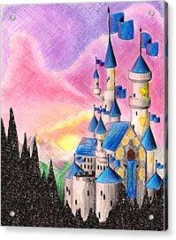 Sweet Heart Castle Acrylic Print by Scarlett Royal
