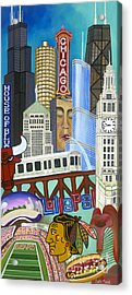 Acrylic Print featuring the painting Sweet Home Chicago by Carla Bank