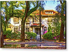 Sweet Home New Orleans - Walking The Dogs - Paint Acrylic Print