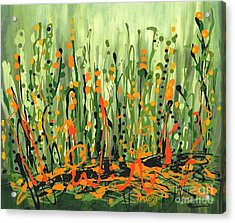 Acrylic Print featuring the painting Sweet Jammin' Peas by Holly Carmichael