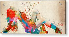 Sweet Jenny Bursting With Music Cropped Acrylic Print by Nikki Marie Smith
