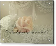 Sweet Love Quote Acrylic Print by JAMART Photography