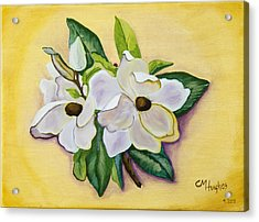 Sweet Magnolias Acrylic Print by Christie Nicklay
