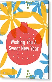 Sweet New Year Card- Art By Linda Woods Acrylic Print
