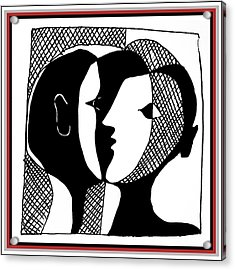 Acrylic Print featuring the digital art Sweet Nothings by Vagabond Folk Art - Virginia Vivier