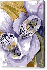 Acrylic Print featuring the painting Sweet Orchids by Marilyn Barton