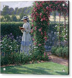 Sweet Solitude Acrylic Print by Edmund Blair Leighton