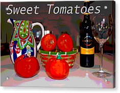Sweet Tomatoes Acrylic Print by Charles Shoup