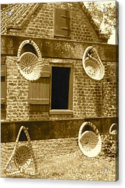 Sweetgrass Baskets And Slave Shack Acrylic Print by Staci-Jill Burnley