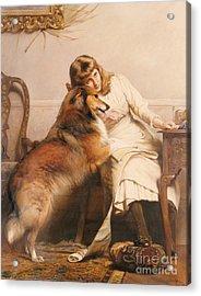Sweethearts, 1890 Acrylic Print by Charles Burton Barber
