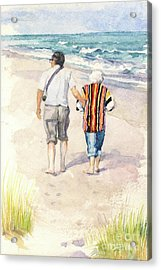 Sweethearts At The Beach Acrylic Print