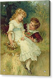 Sweethearts Acrylic Print by Frederick Morgan