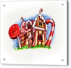 Sweety House Acrylic Print
