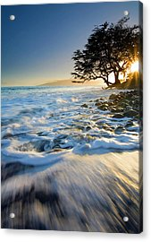 Swept Out To Sea Acrylic Print by Mike  Dawson