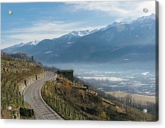 Swerving Road In Valtellina, Italy Acrylic Print