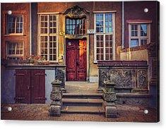Swietego Ducha Street In Gdansk  Acrylic Print by Carol Japp