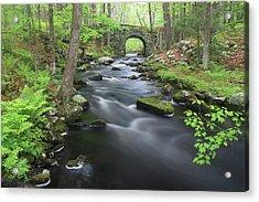 Swift River And Keystone Bridge Quabbin Reservoir Acrylic Print by John Burk