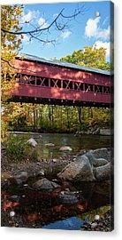 Swift River Covered Bridge Acrylic Print