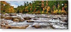 Swift River Runs Through Fall Colors Acrylic Print