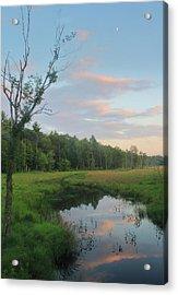 Swift River Sunset Acrylic Print by John Burk