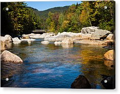 Swift River View Acrylic Print by Sue OConnor