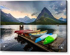 Swiftcurrent Canoes Acrylic Print