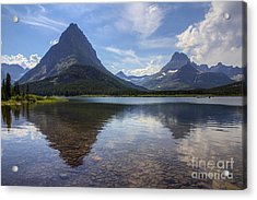 Swiftcurrent Lake And Mount Grinnell Acrylic Print