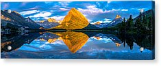 Swiftcurrent Lake Sunrise Panorama Acrylic Print