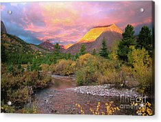 Swiftcurrent Sunrise Acrylic Print by Dave Hampton Photography