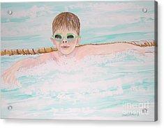 Swim Meet Acrylic Print by Janna Columbus
