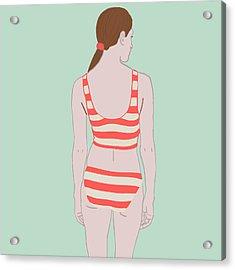 Swim Acrylic Print by Nicole Wilson