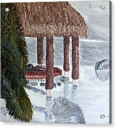 Swim To A Beach Bar Cool Huh Acrylic Print by Leslye Miller
