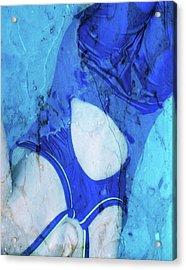 Swimmer In Stone Acrylic Print