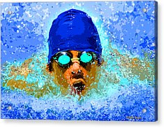 Swimmer Acrylic Print by Stephen Younts