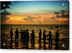Swimmers Sunrise Acrylic Print