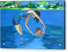 Swimmin' Acrylic Print by Betty Pieper