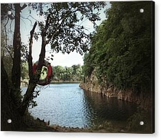 Swimming At The Quarry Acrylic Print by Karen Stahlros