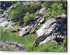 Acrylic Print featuring the photograph Swimming Hole by Teresa Blanton
