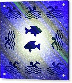 Swimming In The Cosmic Sea Acrylic Print