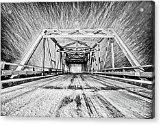 Swing Bridge Blizzard Acrylic Print