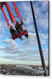 Swing High Above With A View Of Amsterdam Acrylic Print