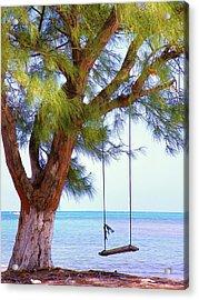 Swing Me... Acrylic Print by Karen Wiles