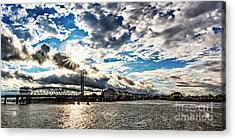 Swing Bridge Drama Acrylic Print